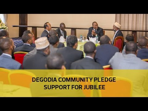 Degodai community pledge support for Jubilee