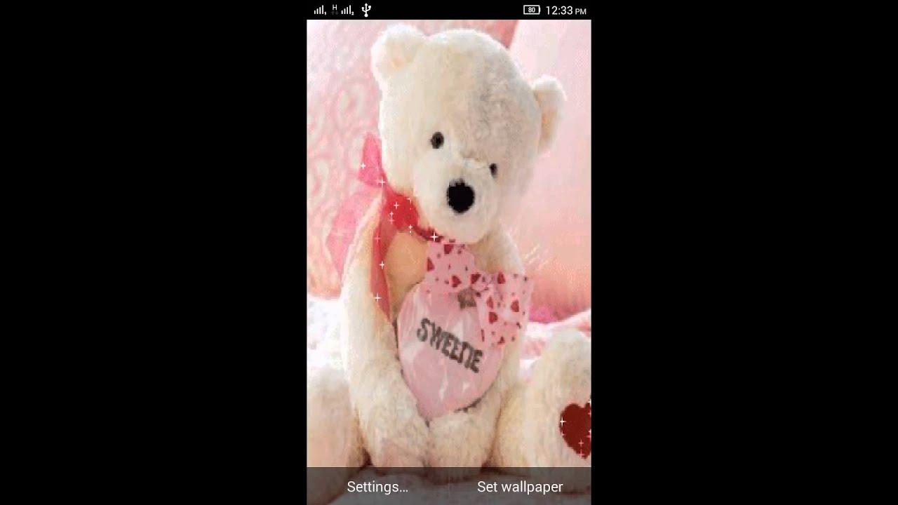 bear live wallpaper  3D Teddy Bear Live Wallpaper - YouTube