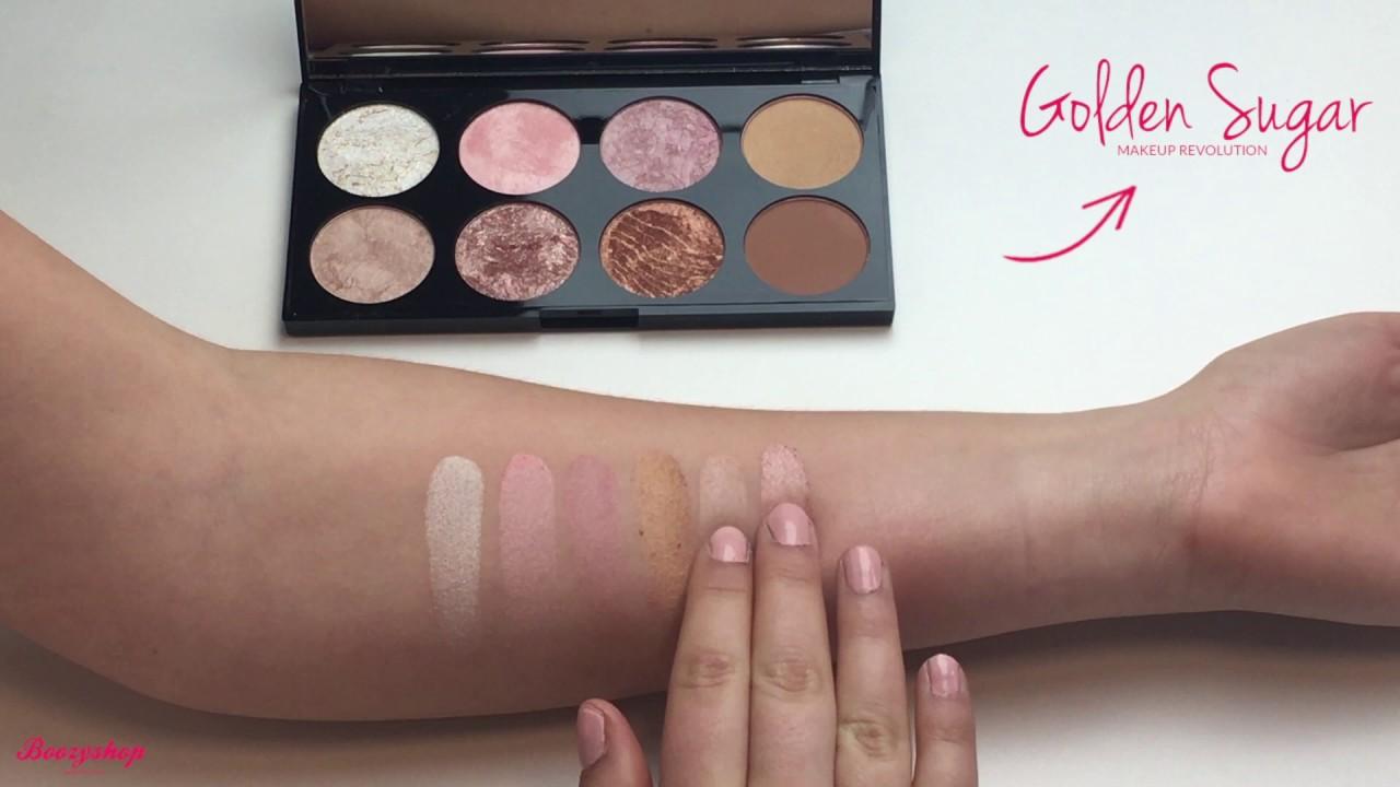 Swatches Ultra Blush Palette Golden Sugar Makeup Revolution
