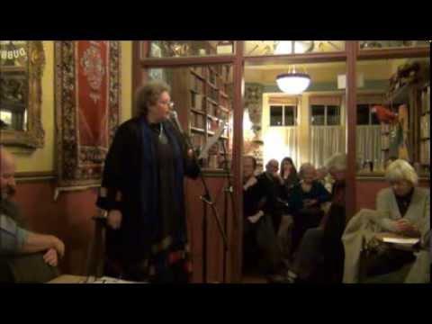 Narda Dalgleish performs her poetry at Drumbeats Poetry Slam