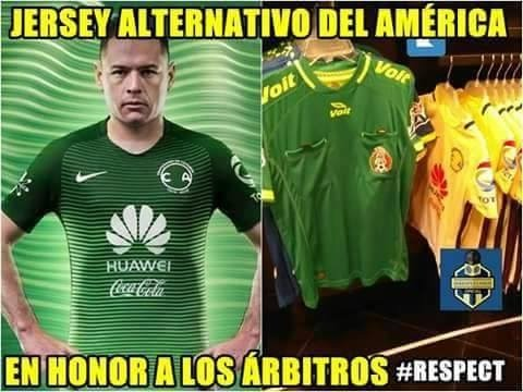 Nueva playera verde del am rica causa enojo y memes for Cuarto uniforme del america