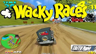 GAMEPLAY WACKY RACES ARCADE - TAITO TYPE X2 EMULATOR