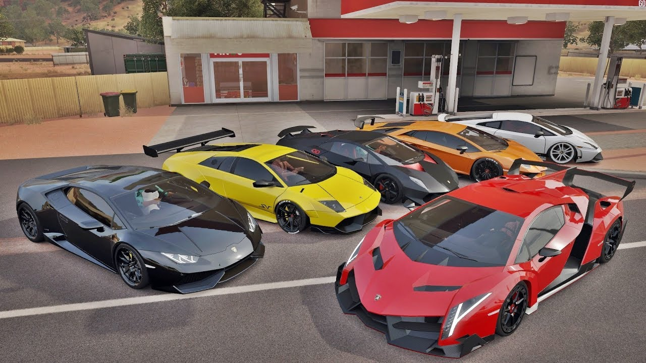 Racha So De Lamborghini Veneno Vs Aventador Vs Sesto Elemento Vs