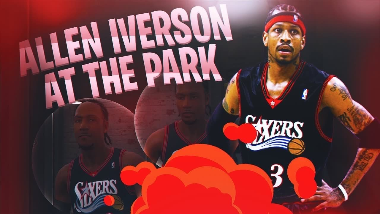 best sneakers 8c092 14cf6 Allen Iverson at the park in nba 2k18