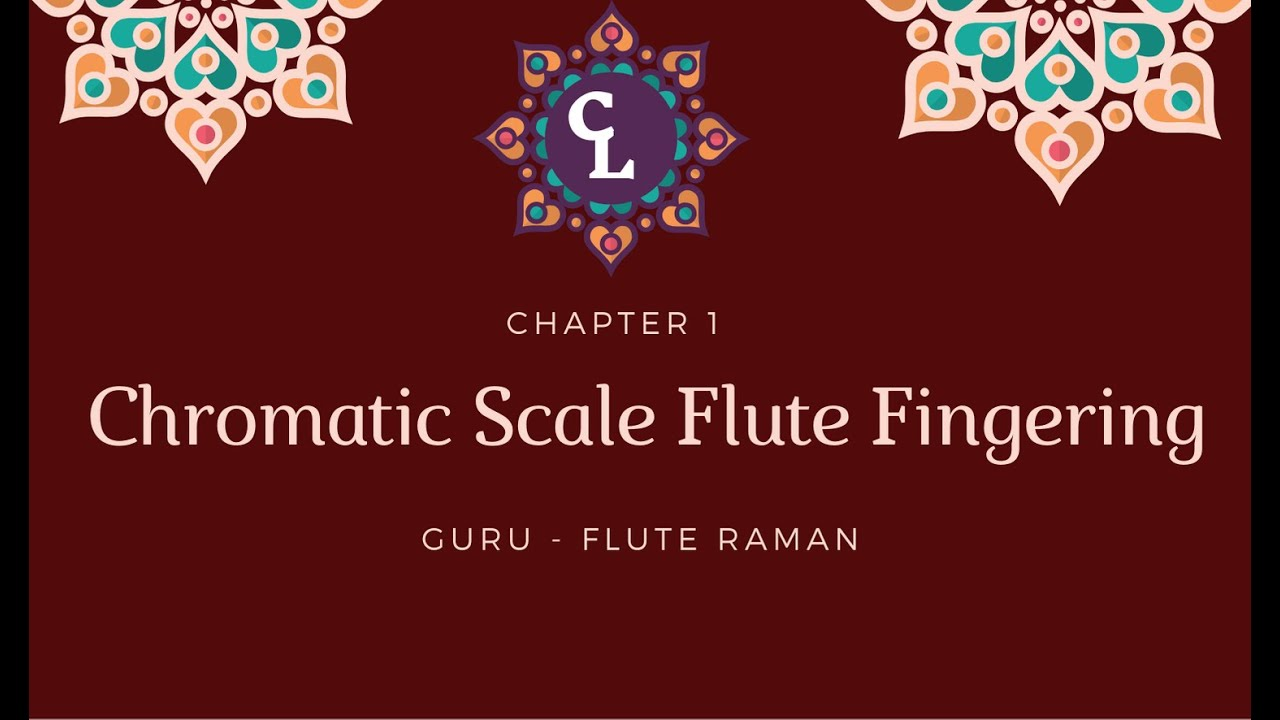 Carnatic Flute Chromatic Scale Fingering