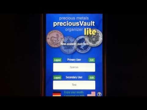 Silver Bullion iPhone app - Precious Vault Lite