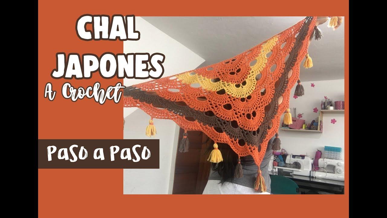 Chal Japonés a Crochet - Paso a Paso - YouTube