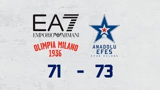 Maç Özeti | EA7 Emporio Armani Milano – Anadolu Efes