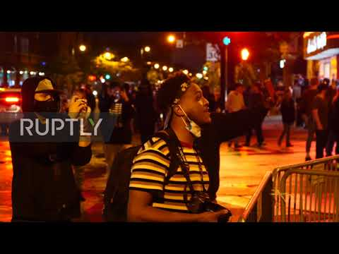 "USA: Protesters clash with police over George Floyd""s death in Minneapolis"