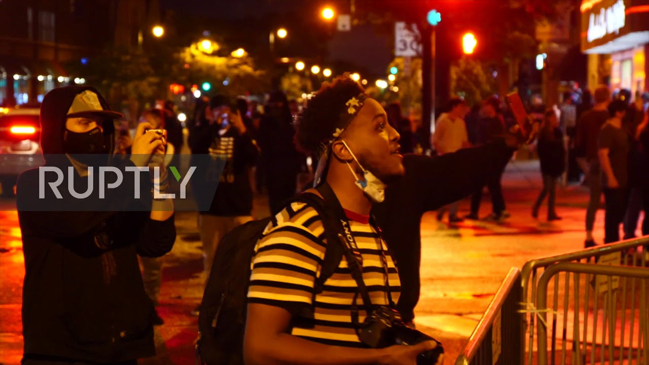 Protesters clash with Minneapolis police after George Floyd death ...