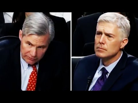Sheldon Whitehouse Grills Neil Gorsuch About Dark Money Support