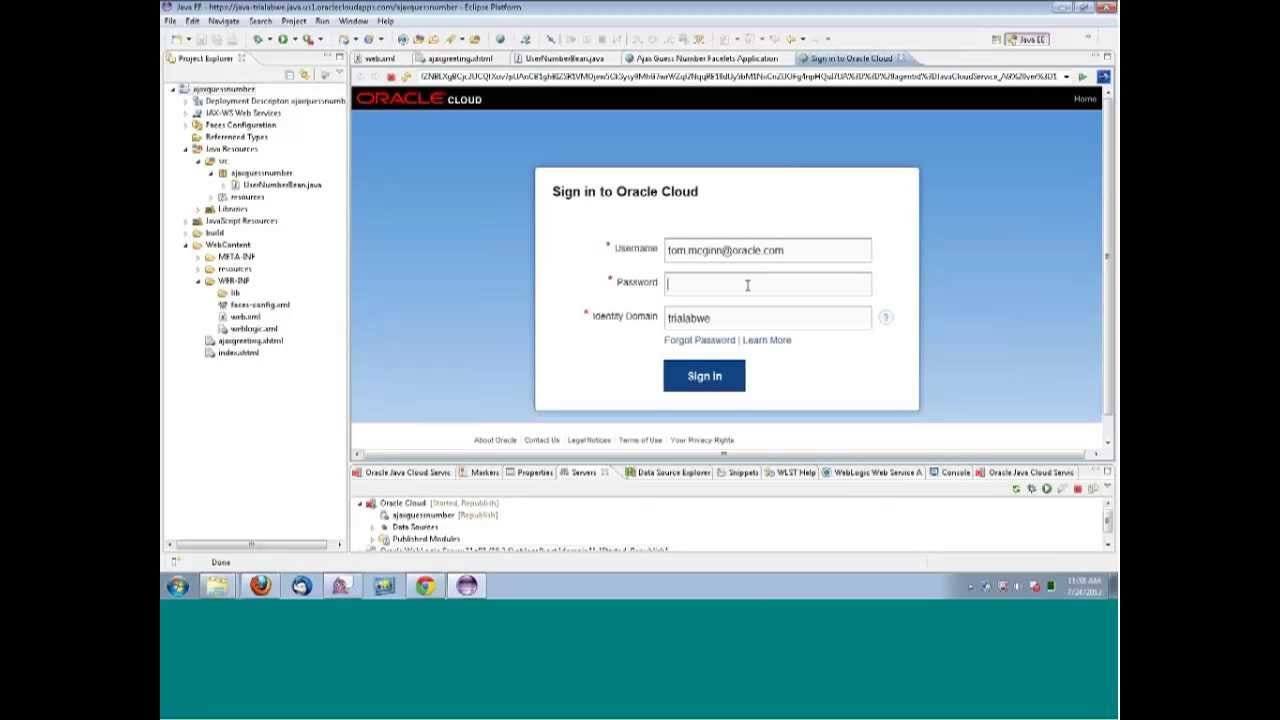 Oracle enterprise pack for eclipse (oepe) ide integration with.