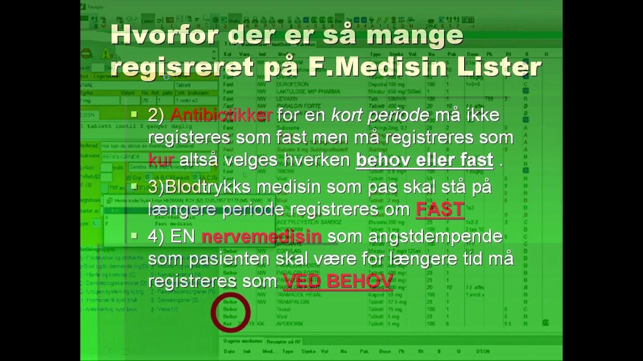 Hvordan Skal Man Registrere Medisin System X Youtube