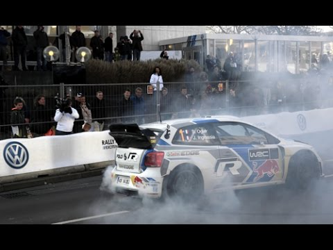 vw polo 9r r wrc drift show in wolfsburg s bastien ogier. Black Bedroom Furniture Sets. Home Design Ideas