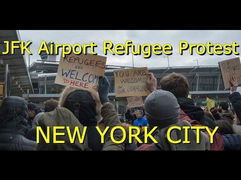 JFK Airport Protest For Detained Refugees | President Trump Executive Order | Port Authority Police