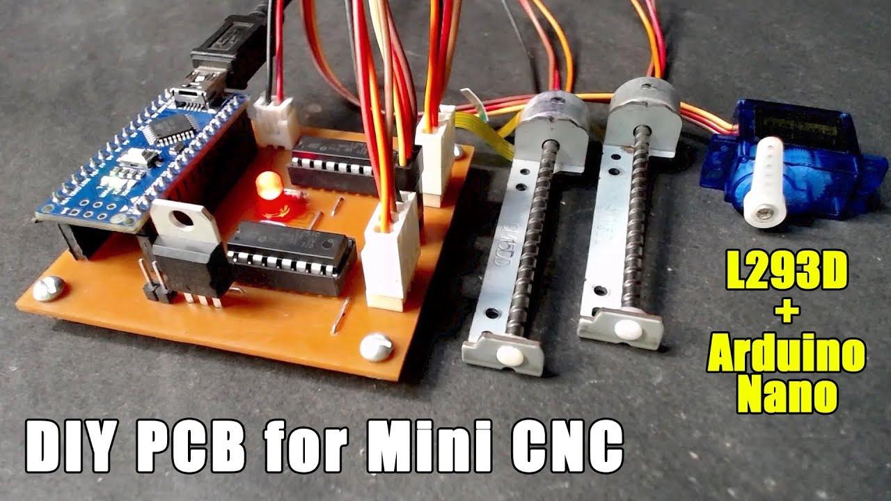 Complete Diy Pcb For Mini Cnc Arduino Nano L293d Youtube Motor Driver Ic Circuit Free Circuits