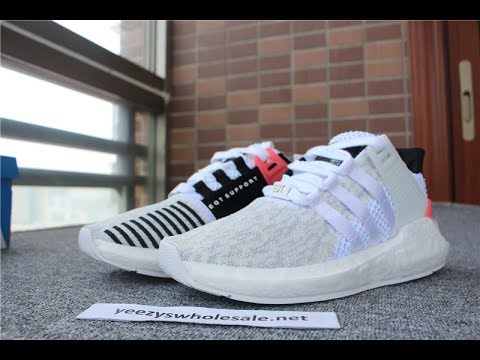 new products f1e13 cf7d8 ADIDAS EQT SUPPORT 9317 WHITE TURBO RED BLACK BA7473 WITH FISH SKIN BOOST  FROM YEEZYSWHOLESALE NET