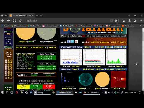 Solar Activity outlook for the Week of September 25th 2017