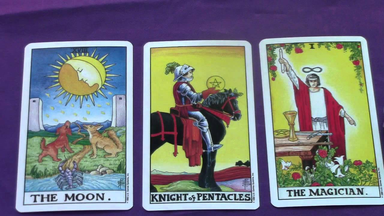 The Moon, Knight of Pentacles & The Magician Tarot Cards Explored in a  Reading