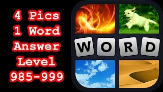 4 Pics 1 Word - Level 985-999 - Hit level 1000! - Answers Walk…