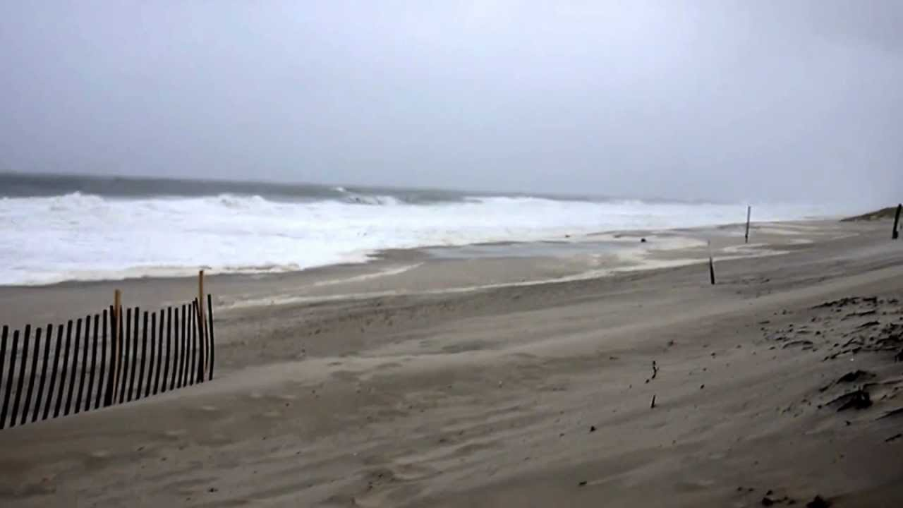 Hurricane Sandy Sunday 10 28 2017 5 Pm 6th Lane Midway Beach South Seaside Park New Jersey