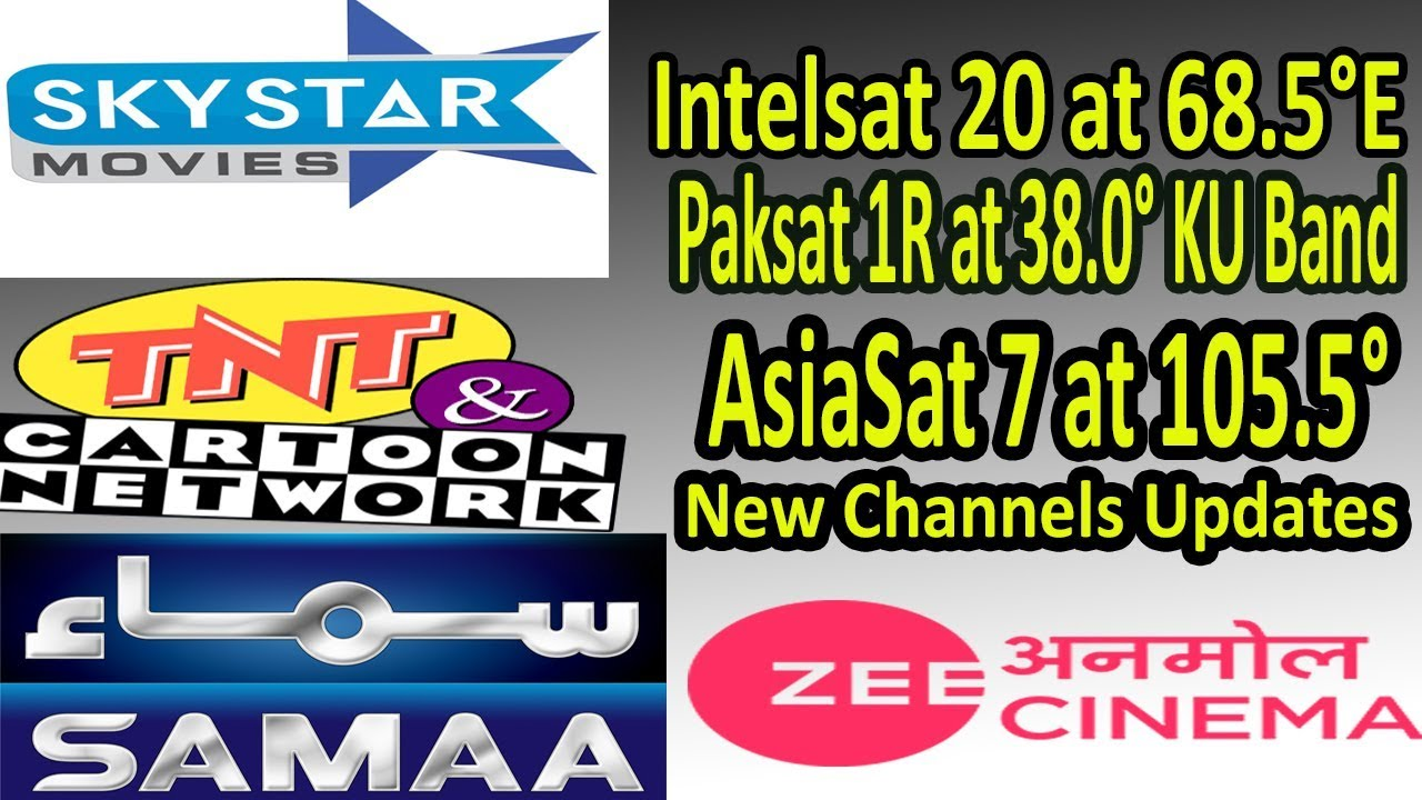 Intelsat 20 at 68 5°E Paksat 1R at 38 0°E KU Band AsiaSat 7 at 105 5°E  Channel Updates
