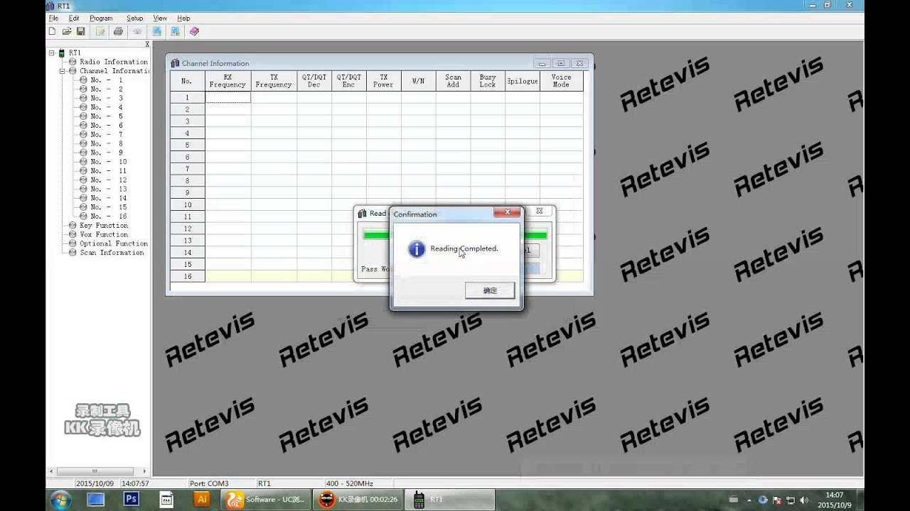 A9106A RETEVIS RT1 teach you how to Write frequency