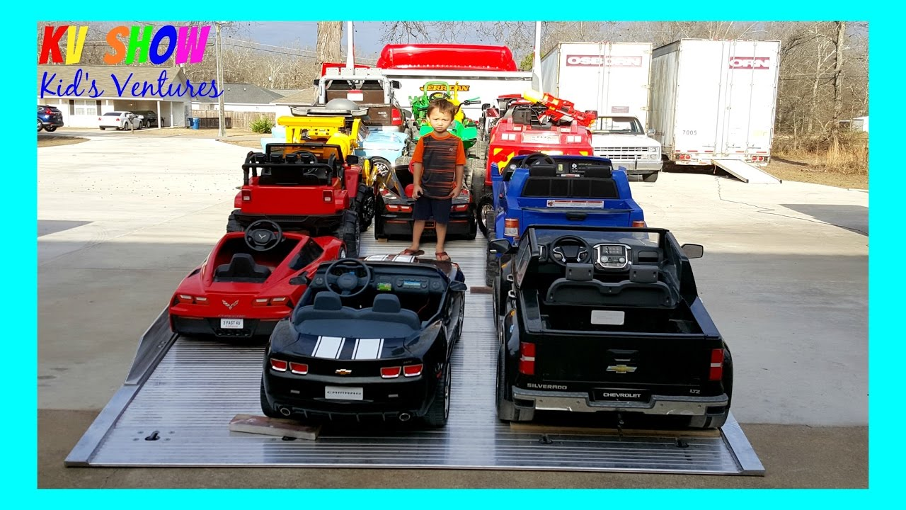 Huge Power Wheels Collections Part 2 Kid Loading All Of