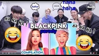 |BTS reaction To|  KILL THIS LOVE - PARODY LankyBox MP3