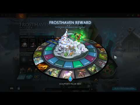 Frosthaven Spin+Treasure Sculptor's Pillar | New Event Dota 2 | Frosthaven Reward Spin the wheal #1