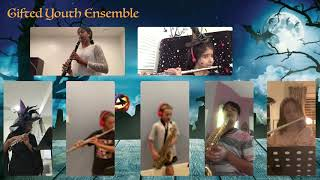 Gifted Youth Wind Ensemble. Andante Halloween Special. Ensemble led by Miss Brittany Biala