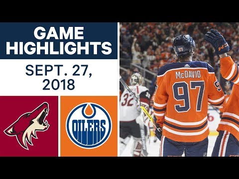 NHL Pre-season Highlights   Coyotes vs. Oilers - Sept. 27, 2018