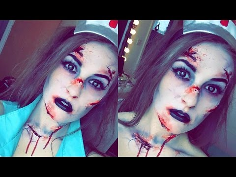 Dead Nurse Halloween Makeup- CHARLEY PAYNE MUA - YouTube