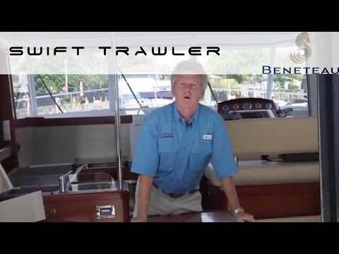 Beneteau Swift Trawler 34 - Engine Room Review by BoatTest.com