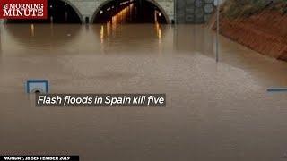 Flash floods in Spain kill five