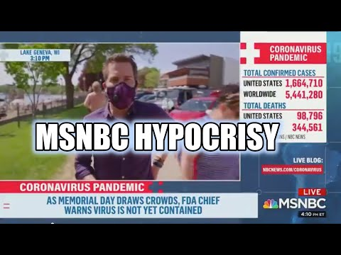 MSNBC Reporters outraged people aren't wearing face masks. Passerby calls them out for hypocrisy