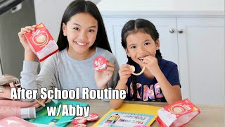 After School Routine w/ Abby & Babybel Mini Rolls!