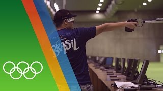 Training for Rio with Air Pistol shooter Felipe Wu [BRA]