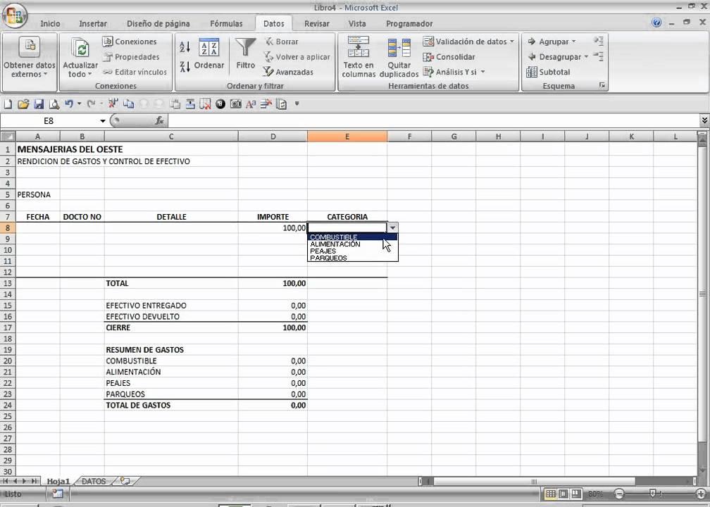 Como hacer un informe consolidado excel 2007 - YouTube