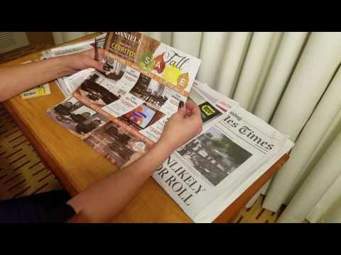 ASMR  -Sunday newspaper reading with bonus Saturday LA times  segment at the end.