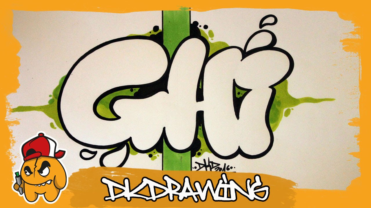 graffiti alphabet tutorial how to draw graffiti bubble letters g to i