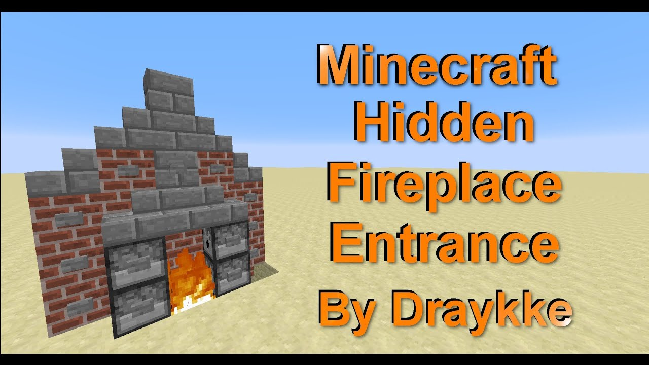 Minecraft (1.7.9+) Hidden Fireplace Entrance [Simple/Compact/No ...