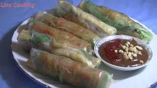 GỎI CUỐN CHAY thanh đạm mà ngon - VIETNAMESE VEGAN SPRING ROLLS || Lina Cooking