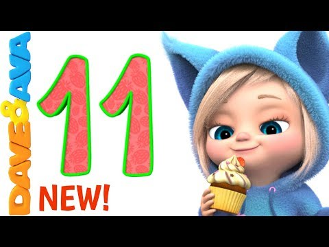 🚉 Number Train Part 2 | Nursery Rhymes and Counting Songs | Learn Numbers with Dave and Ava 🚉