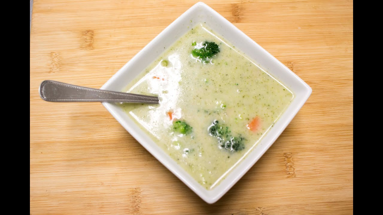 Paleo Cream of Broccoli Soup - YouTube