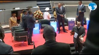 President Uhuru and other African leaders during Kenya Trade Week at KICC