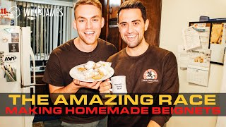 Making Homemade Beignets | The Amazing Race 32 | Will and James #AmazingRace
