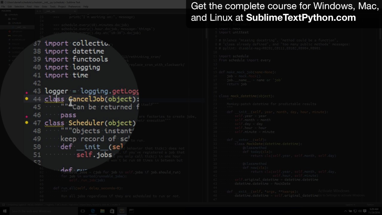 Setting up Sublime Text for Python Developers – Lesson #1