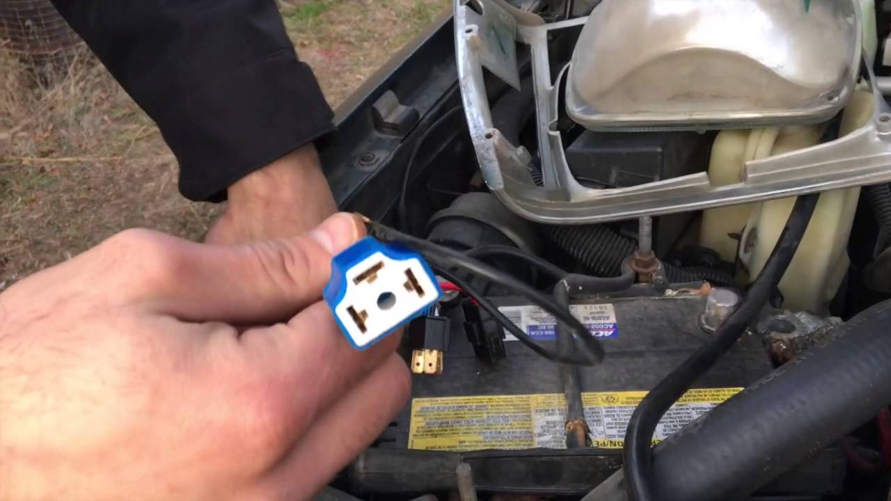 driving light relay wiring diagram triumph herald headlight harness install - youtube