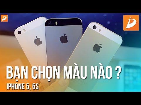 iPhone 5S và iPhone 5 : Tư vấn chọn màu nào đẹp nhất